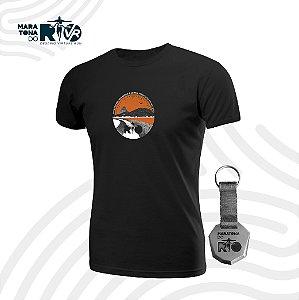 Kit Masculino Camiseta Preta e Chaveiro Desafio O Nosso Melhor Tempo é Agora