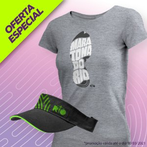 Kit Camiseta e Viseira Dia da Mulher