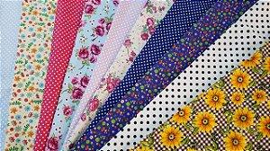 5 cortes póas + 5 cortes Florais Cortes de 0,50 x 1,50 mt