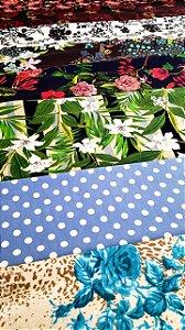 8 cortes malhas jersey estampada cortes de 2 metros