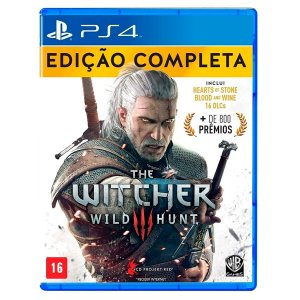 JOGO THE WITCHER III WILD HUNT - EDIÇÃO COMPLETA PS4