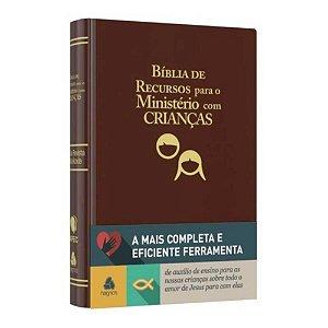 Bíblia De Recursos Para O Ministério Com Crianças Apec Luxo Marrom