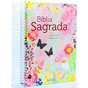 Bíblia Sagrada Anote Espiral Clássica Virtuosa Feminina