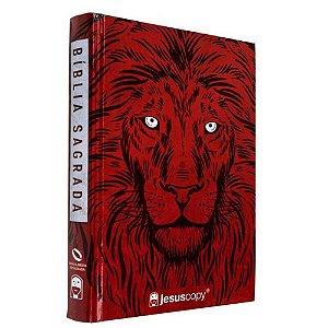 Bíblia JesusCopy Capa Dura Leão Vermelho NAA