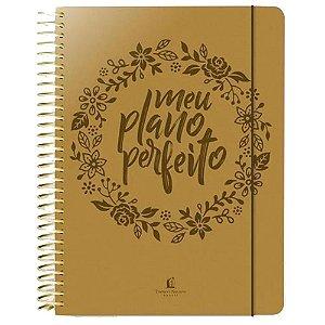 Agenda Feminina Meu Plano Perfeito Planner Dourado