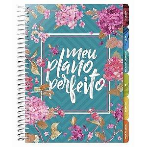 Agenda Meu Plano Perfeito Planner Capa Flores