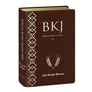 Bíblia King James Estudo Holman 1611 Marrom