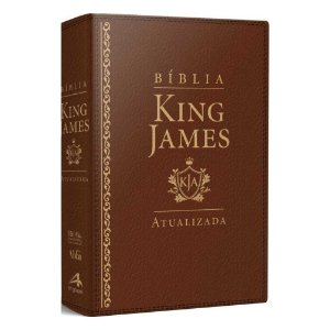 Bíblia Sagrada King James Atualizada Letra Grande Luxo Marrom