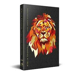 Bíblia Sagrada King James Atualizada KJA - Média Capa Dura Slim Leão Geométrico