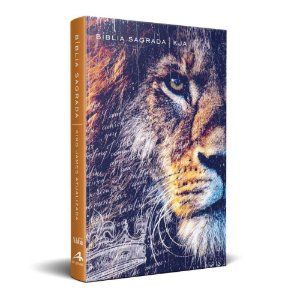 Bíblia Sagrada King James Atualizada KJA - Média Capa Dura Slim Leão de Judá