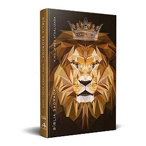 Bíblia Sagrada  King James Atualizada KJA - Média Capa Dura Leão Coroa