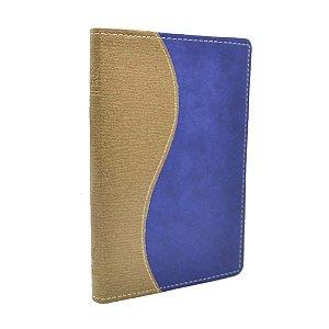 Bíblia King James 1611 Média Ultrafina Luxo Bege e Azul