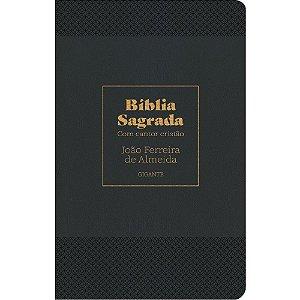 Bíblia Sagrada com Cantor Cristão Luxo Preta