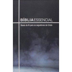 Bíblia Sagrada Essêncial Bases da Fé Capa Dura Azul