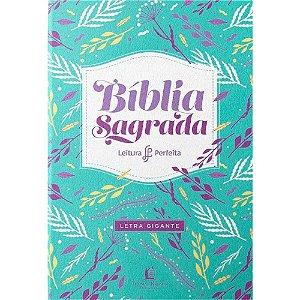 Bíblia Sagrada Leitura Perfeita Letra Gigante Capa Feminina Azul NVI