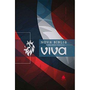 Bíblia Sagrada Nova Bíblia Viva Capa Dura Royal Vermelha Azul e Branco Edição Limitada
