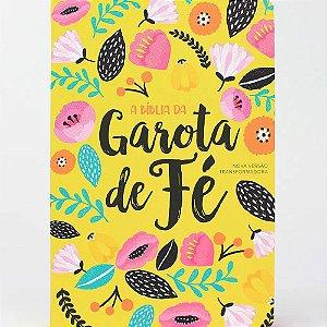 Bíblia da Garota de Fé NVT Capa Dura Estampa Primavera Floral Amarelo