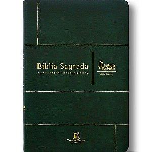 Bíblia Sagrada NVI Leitura Perfeita Letra Grande Couro Bonded Verde