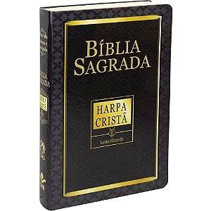 Bíblia Sagrada Letra Grande com Harpa Preta CPAD