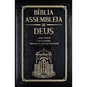 Bíblia das Assembleias de Deus Preta Capa Igreja