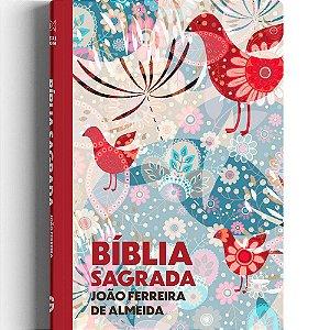 Bíblia Sagrada João de Almeida Revista Corrigida Capa Dura Estampa Passáros