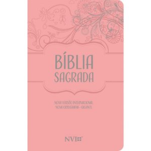 Bíblia Sagrada NVI Gigante Nova Ortografia - Capa Luxo Nude