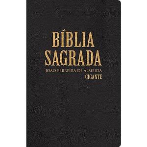 Bíblia Sagrada Revista Corrigida Gigante com Mapas - Semi Luxo Preta
