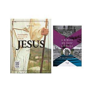 Kit Rodrigo Silva - Enciclopédia Histórica da Vida de Jesus e Livro A Bíblia de Álef a Ômega
