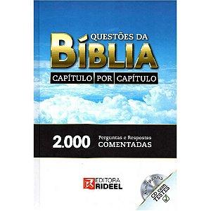 Livro Questões Da Bíblia Capítulo Por Capítulo com Cd