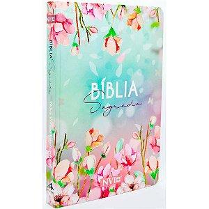Bíblia Sagrada NVI Média Capa Dura Flores
