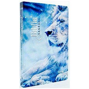 Bíblia Sagrada NVI Média Capa Dura Leão Azul
