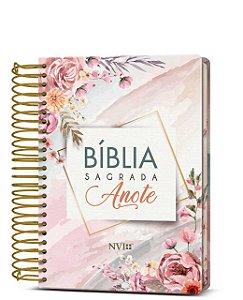 Bíblia Anote  NVI Espiral Aquarela