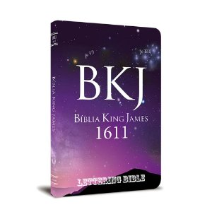 BÍBLIA KING JAMES 1611 ULTRAFINA LETTERING BIBLE UNIVERSO