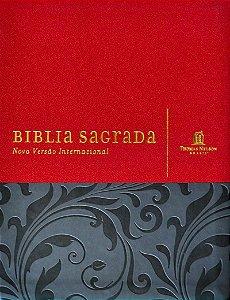 Bíblia NVI Com Espaço para Anotações - Média Luxo Vermelha e Cinza