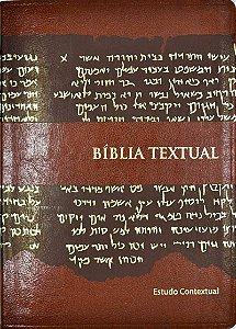 Bíblia De Estudo Textual - Luxo Marrom