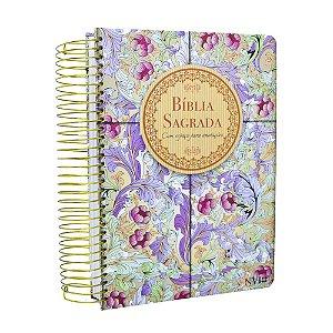 Bíblia Anote NVI com Espaço Para Anotações Cálamo E Canela