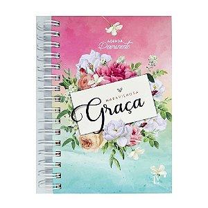 Agenda Permanente Maravilhosa Graça Floral Grande
