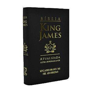 Bíblia King James Atualizada 400 Anos Letra Hipergigante - Média Luxo Preta