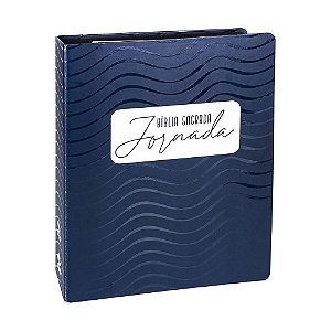 Bíblia Sagrada Jornada NAA Espaço Para Anotações Fichário Com Espiral Azul