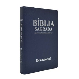 Bíblia Devocional Presente Diário NVI Luxo Azul