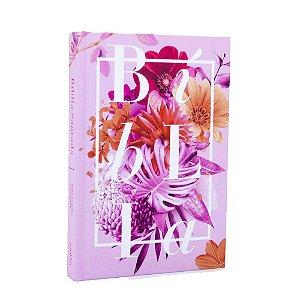 Bíblia Sagrada NAA Média Capa Soft Touch Pink Flowers