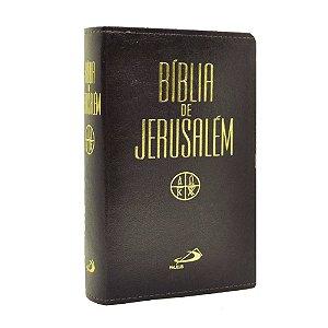 Bíblia De Jerusalém Com Apócrifos Média Capa Luxo Marrom Escuro
