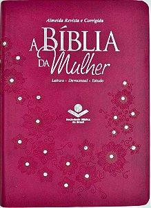 A BÍBLIA DA MULHER RC - MÉDIA - VINHO