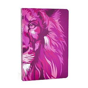 Bíblia Sagrada NVT Média Capa Soft Touch Lion Colors Pink