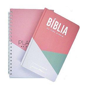 Kit Bíblia de Estudo Joyce Meyer + Planner - Geométrico