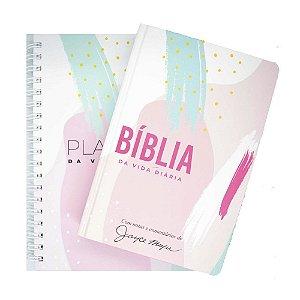 Kit Bíblia de Estudo Joyce Meyer + Planner - Abstrato