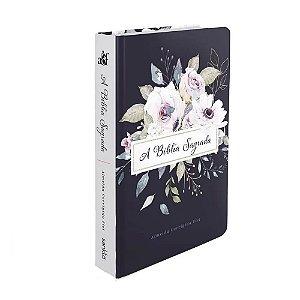 Bíblia Sagrada Letra Grande ACF Média Capa Soft Touch Violetas
