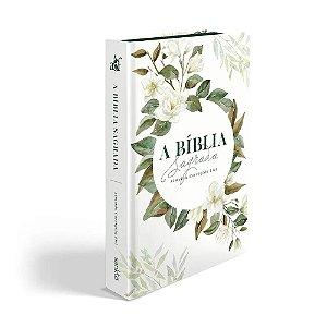 Bíblia Sagrada Letra Grande ACF Média Capa Soft Touch Magnólia Branca