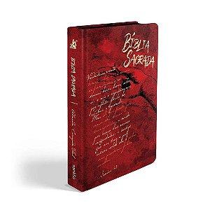 Bíblia Sagrada Letra Grande ACF Média Capa Soft Touch Chagas De Cristo