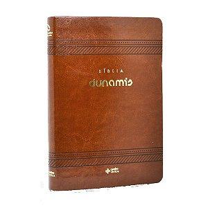 Bíblia Dunamis Clássica Marrom Luxo